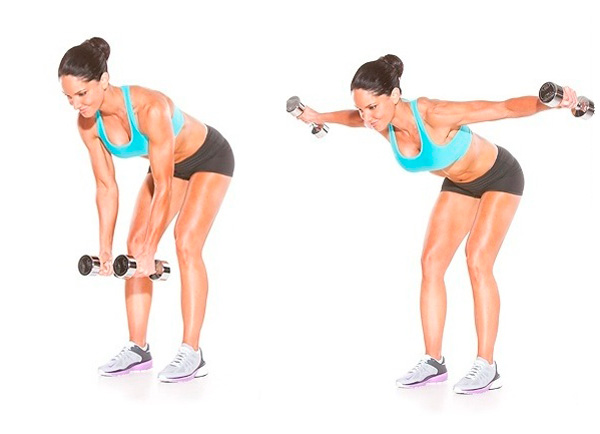 Упражнения с гантелями для рук