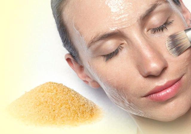Маска для лица с желатином от морщин с медом