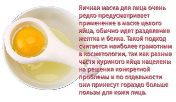 Маски для лица из белков яиц