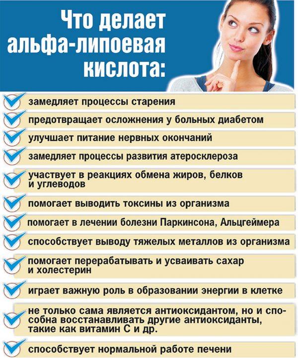 Липоевая кислота: как принимать для похудения