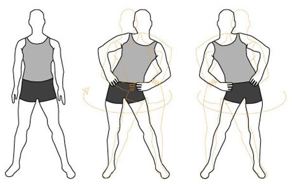 Упражнения стоя для похудения живота и боков