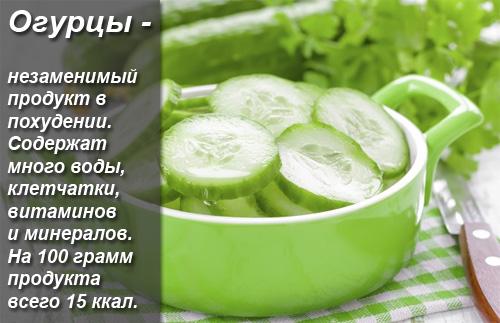 Огуречно-кефирная диета