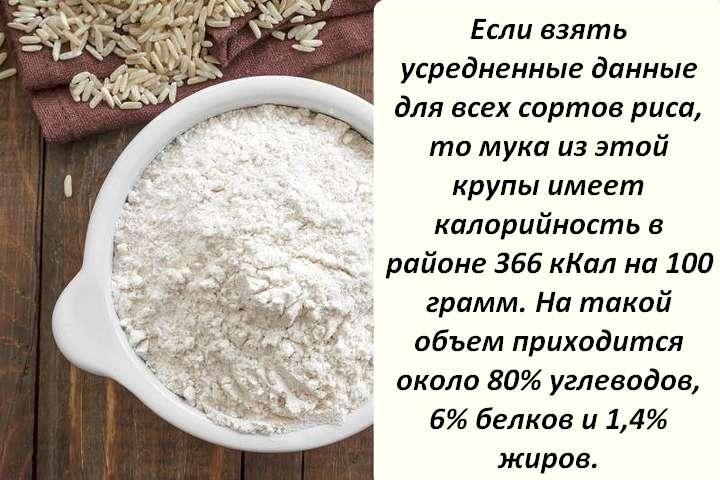 Рисовая мука для похудения