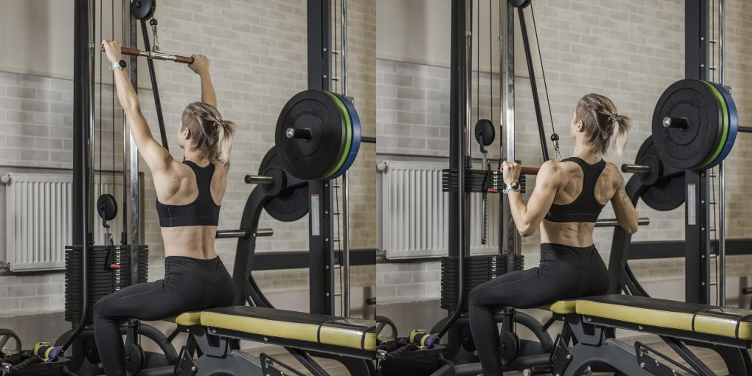 тренировка девушки в спортзале
